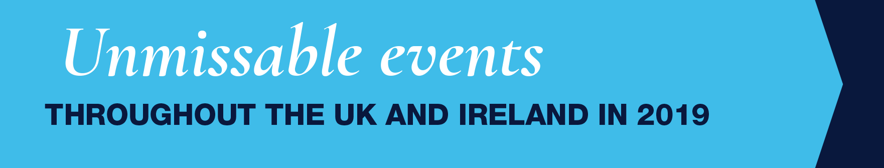 Unmissable Events Banner